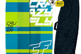 2017 CrazyFly Cruiser Carbon 145 x 48 Light Wind Kiteboard Deck Only + Board Bag