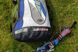 Naish Aero 14 meter kite, bar, lines, bag. Kiteboarding