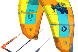 2019 Duotone Dice Kite 9 M ² Orange + Click bar Quad Control 22 - 24 Meter