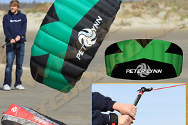 Peter Lynn Vibe Hype Trainer 1.9M Foil Power Kite Kiteboarding Control Bar Leash