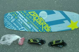 North Crossride Wakeboad Kiteboard mit Tasche