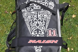 11m Naish Torch Freestyle Kitesurf Kite. Complete with 5 line Bar and Lines.