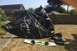 Kite surfing kit