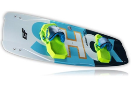 2018 CrazyFly Shox Kiteboard Complete w/Bindings, Fins, and All Hardware