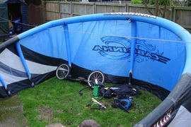 14 meter cabrinha nitro power kite with dirt surfer and more