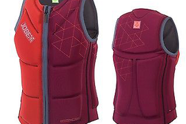 Jobe Rev. Comp Vest Men Zipper Red Wake Boarding Vest Men Surf Kite J17