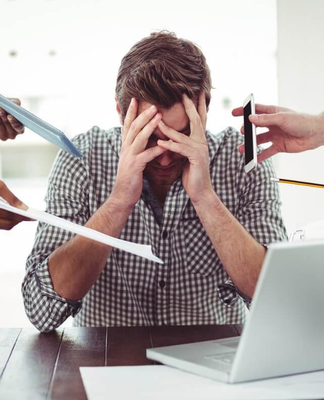 Stress auf Arbeit