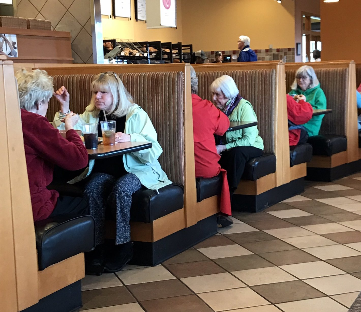 Each booth is an alternate reality.............