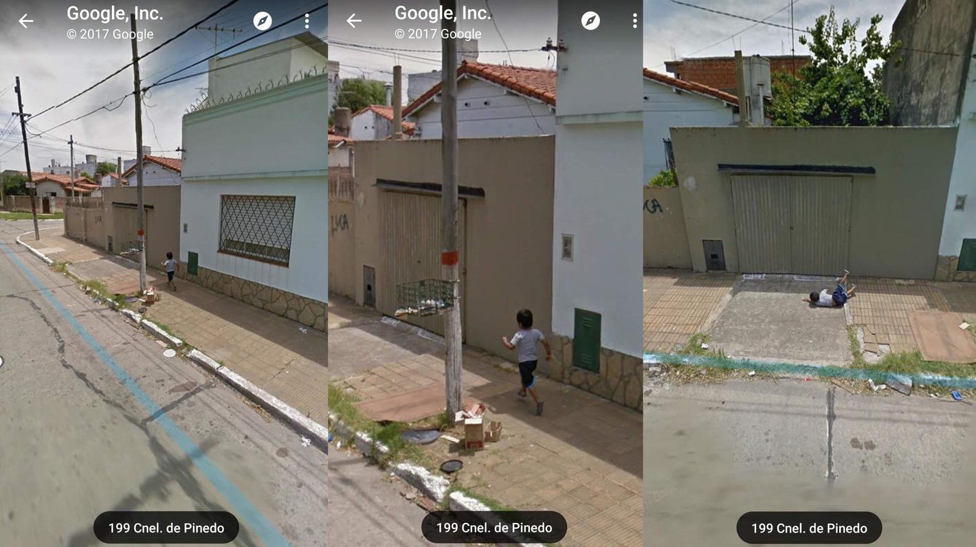 This kid on Google Maps...
