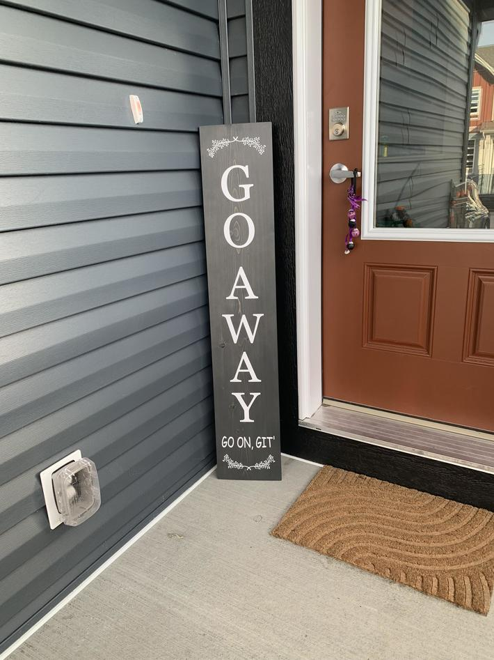 Just moved in and bought this sign…finally feels like home