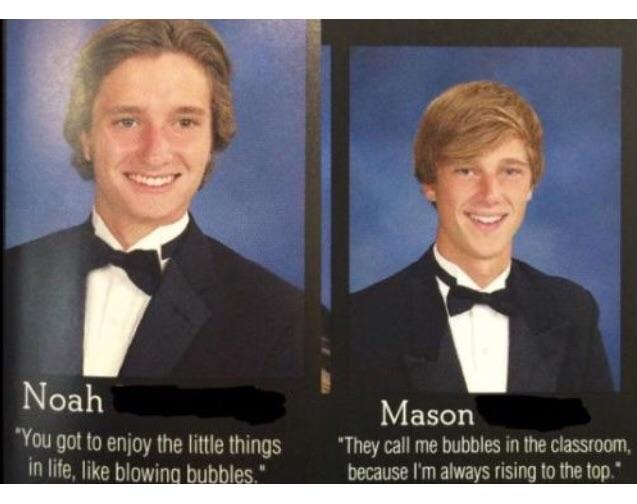 Interesting yearbook quote...