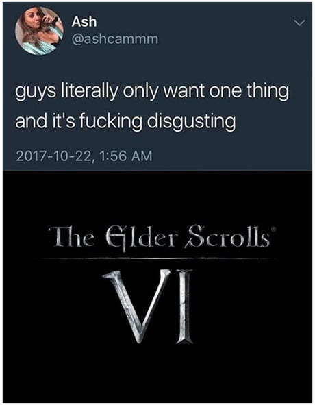 Guys only want one thing..
