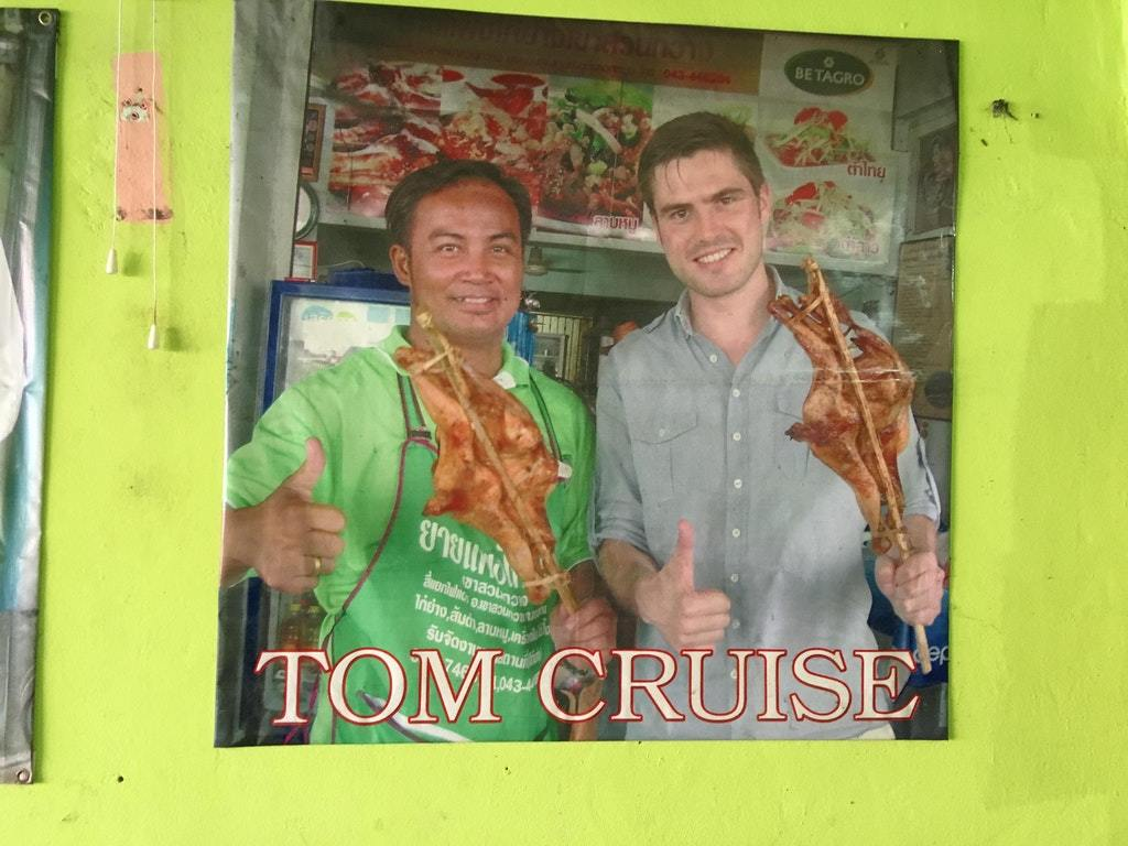 Someone pretended to be Tom Cruise at this chicken shop in Thailand