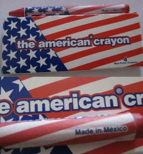 When even the most american crayons are made outside the US