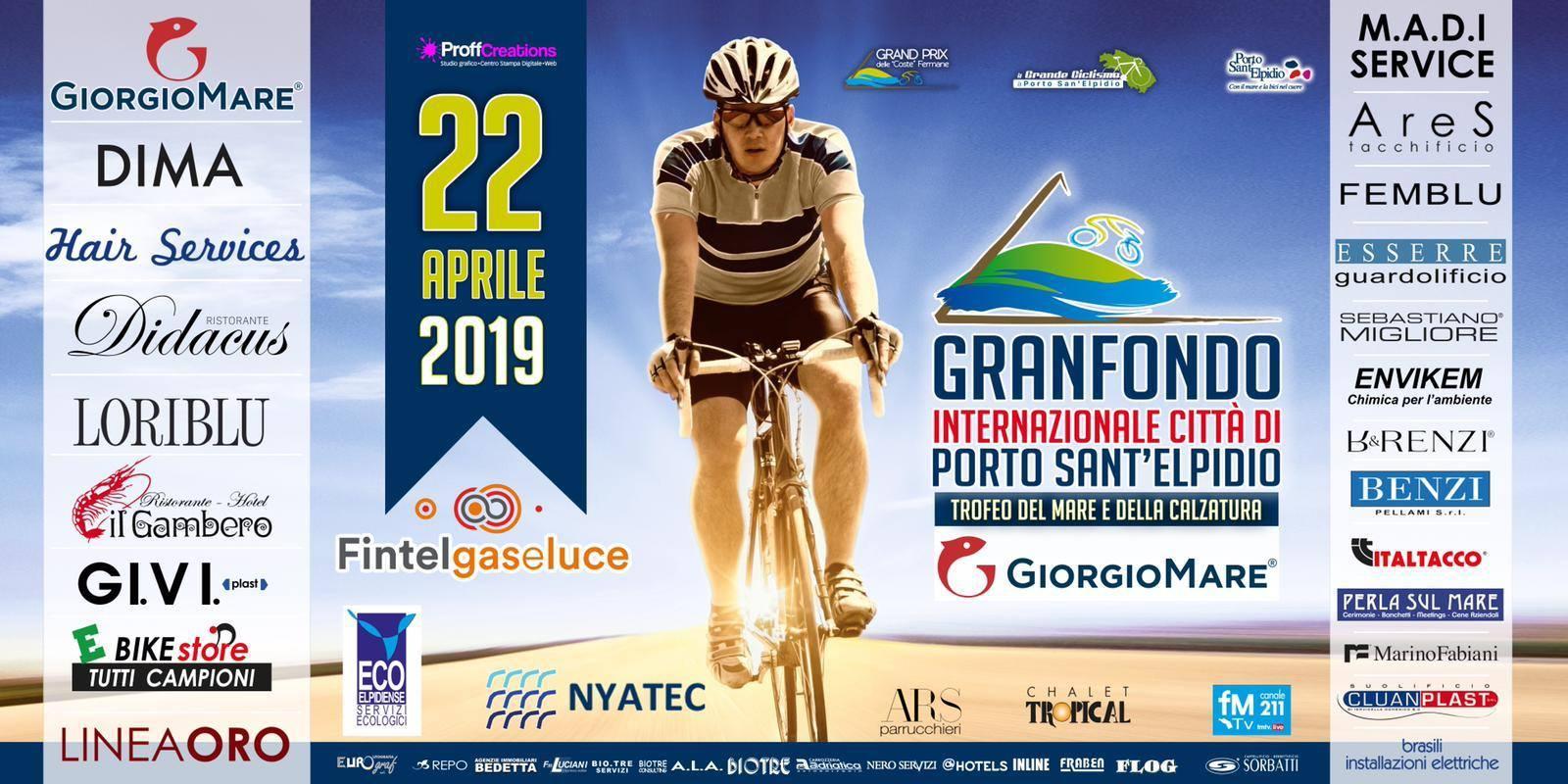 Locandina Granfondo Città di Porto Sant'Elpidio settima edizione 22 Aprile 2019