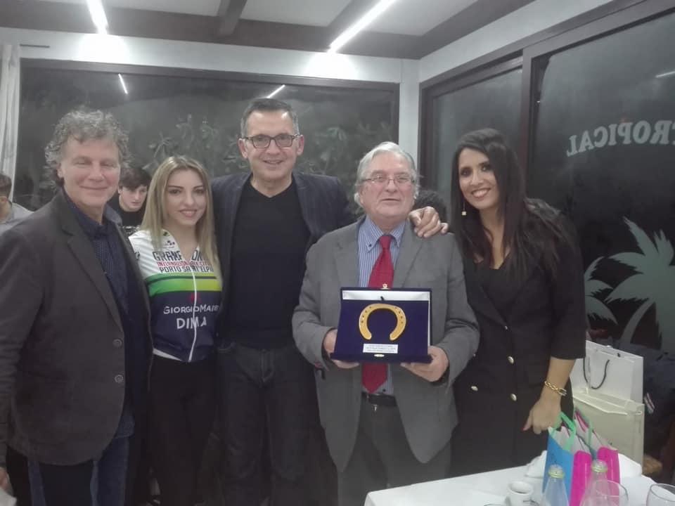 Giorgio Martino e Simona Rolandi al Galà In Fuga verso il 2019 per la Gran Fondo della città di Porto Sant'Elpidio allo chalet Tropical a Porto San Giorgio