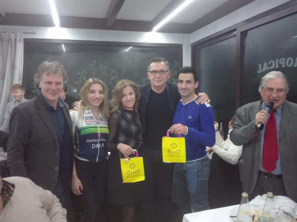 I due vincitori del Grand Prix Coste Fermane Damiano Trivarelli e Cinzia Zacconi