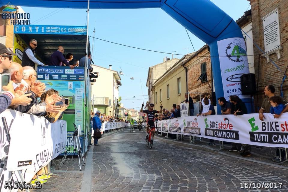 Gran Fondo del Fermano 2017, vittoria di Manuel Fedele