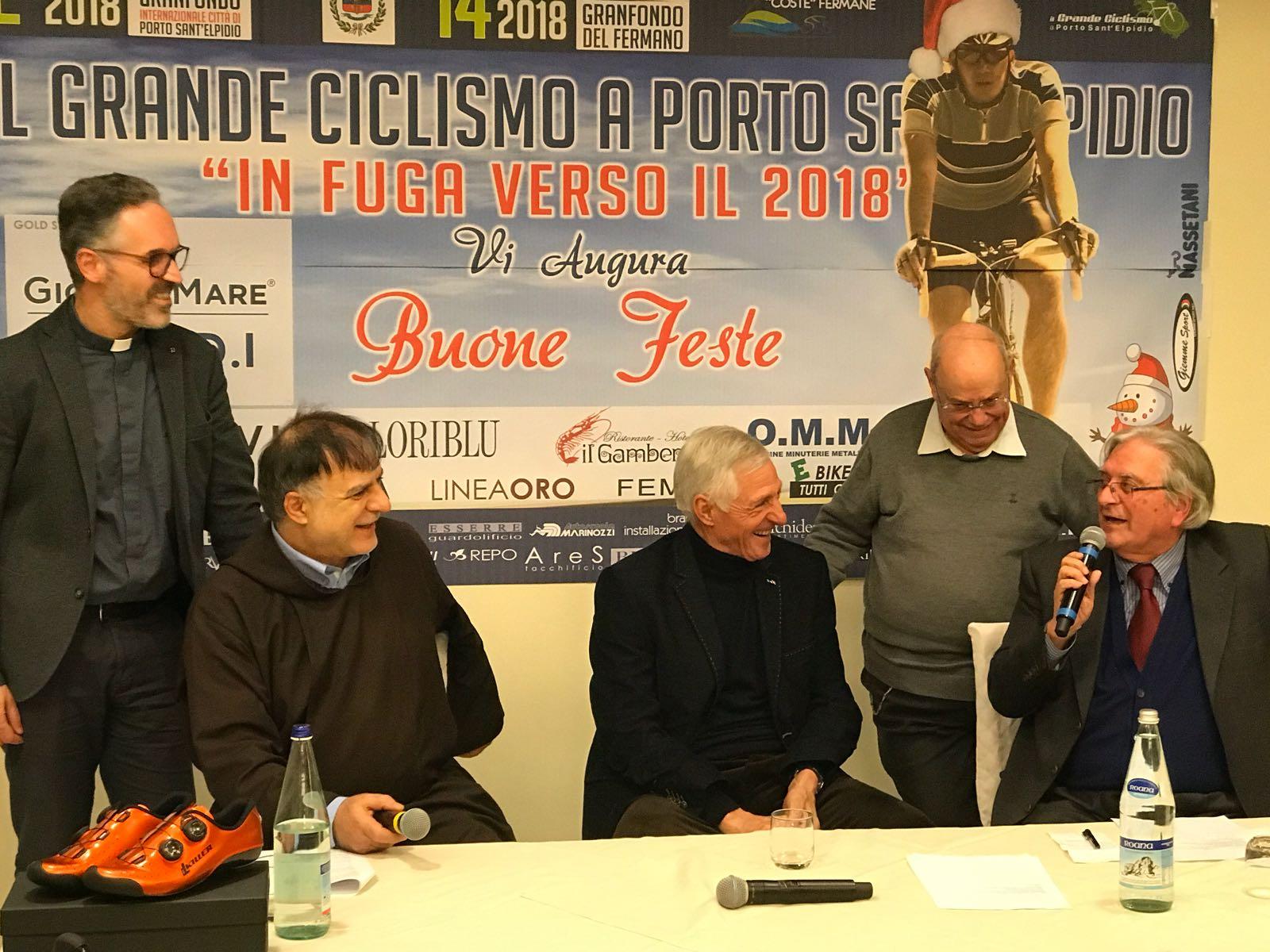 Francesco Moser, Padre Gianfranco Priori, Don Paolo Canale e Don Leandro Nataloni