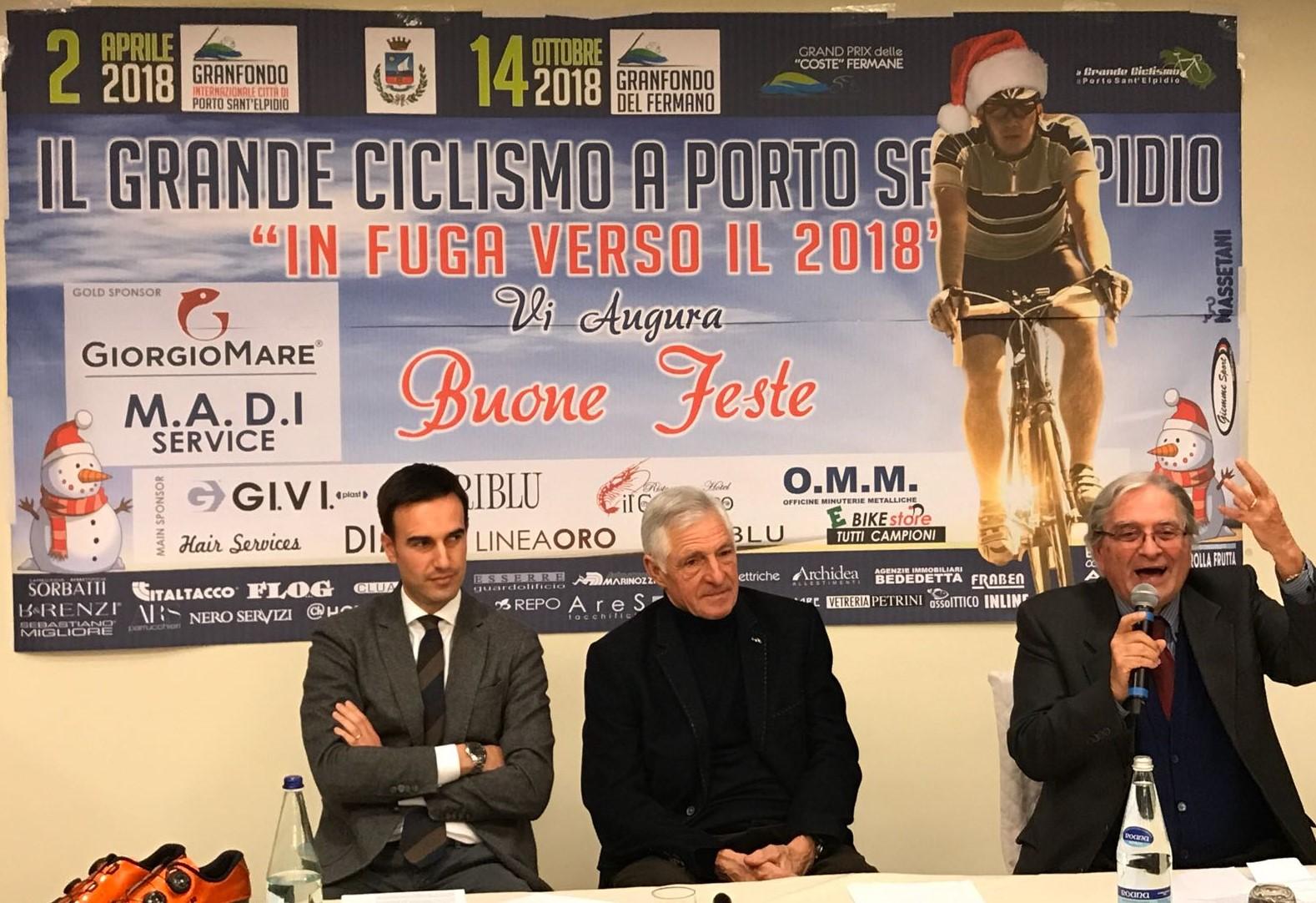 Francesco Moser, Giorgio Martino e il sindaco di Porto Sant'Elpido, in fuga verso il 2018, al ristorante il Gambero