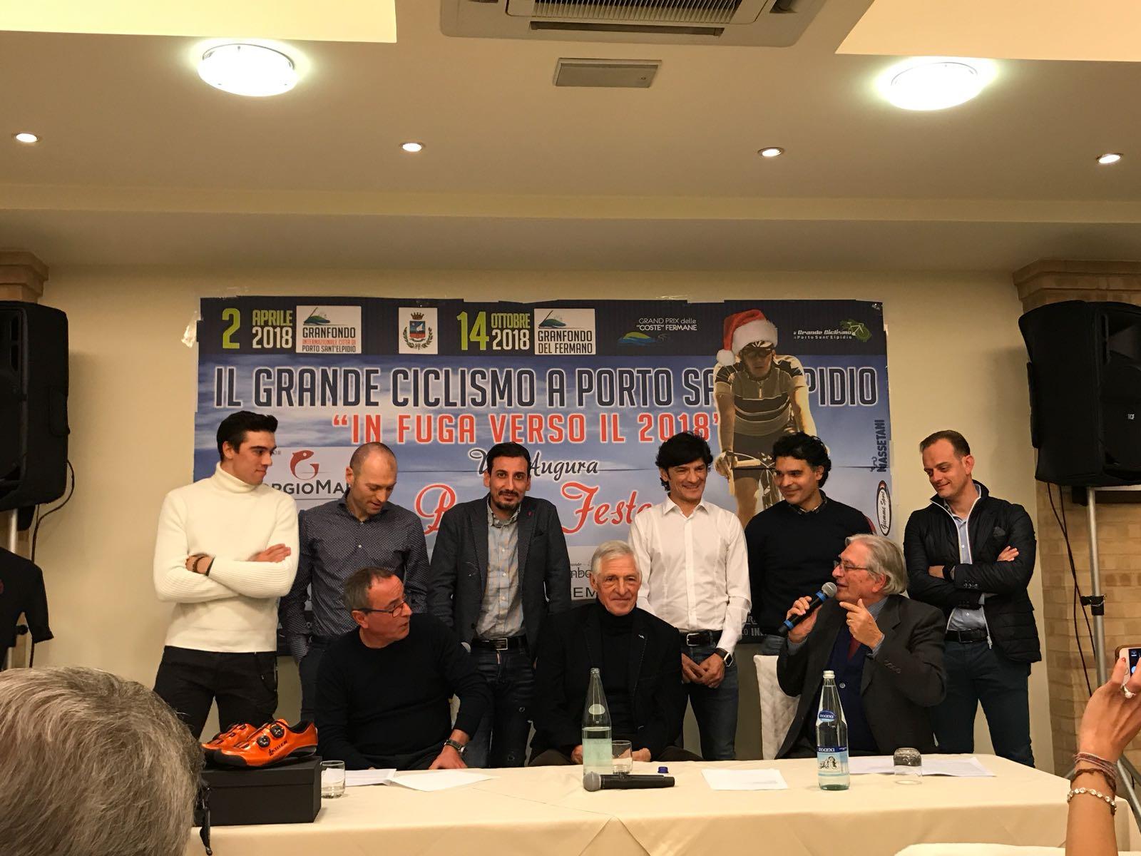 Porto Sant'Elpidio, in fuga verso il 2018, incontro con Francesco Moser e ex-professionisti ciclismo