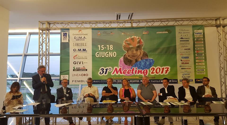 Diamante Loriblu, presentazione del Meeting Nazionale Giovanissimi 31 a Porto Sant'Elpidio, Lino Secchi Presidente del Comitato Regionale Marche FCI