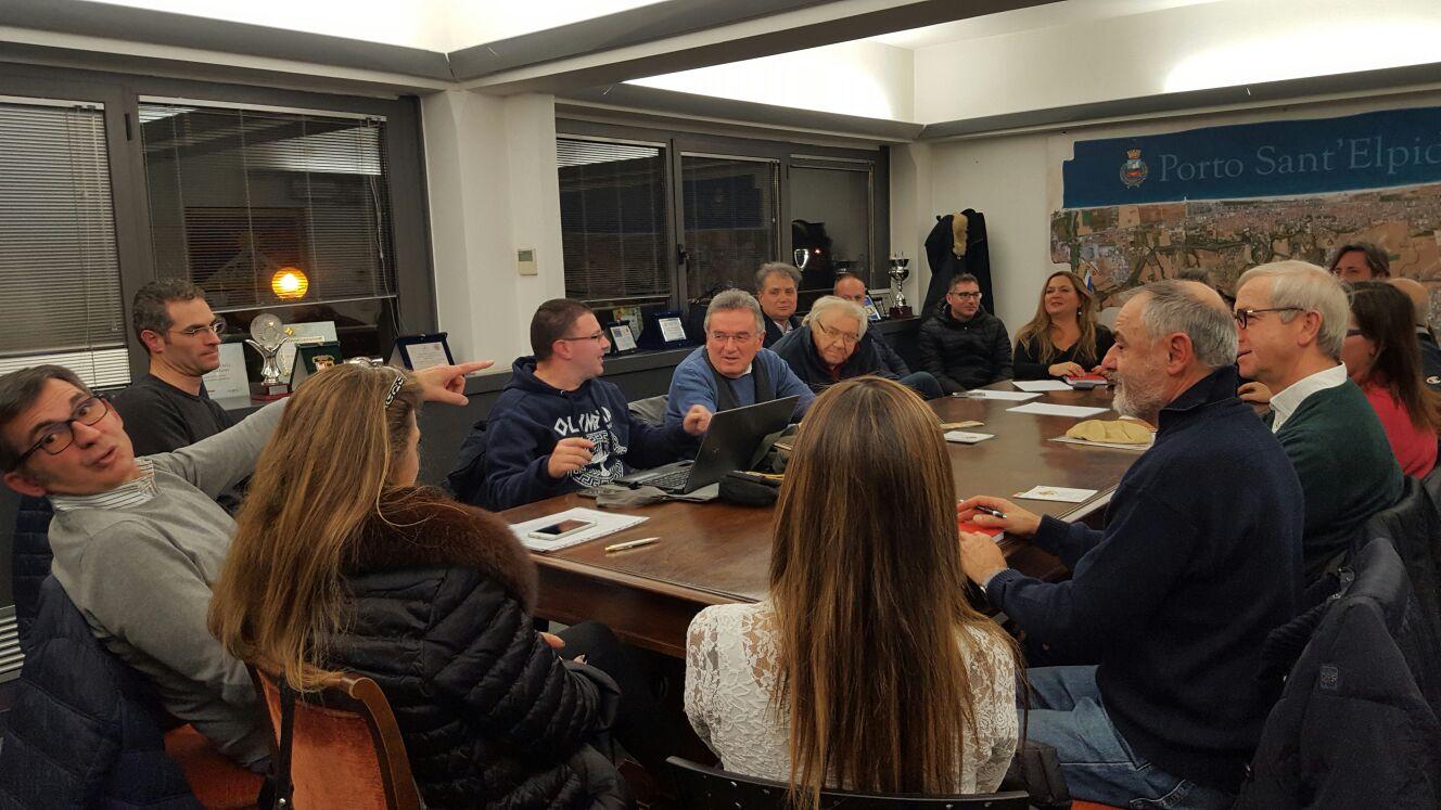 l'incontro tecnico tenutosi presso il Municipio di Porto Sant'Elpidio in vista del Meeting Nazionale dei Giovanissimi FCI dal 15 al 18 giugno