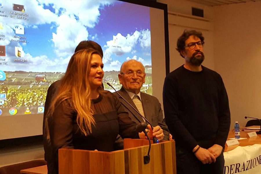 L'assessore allo sport di Porto Sant'Elpidio Milena Sebastiani ad Alba