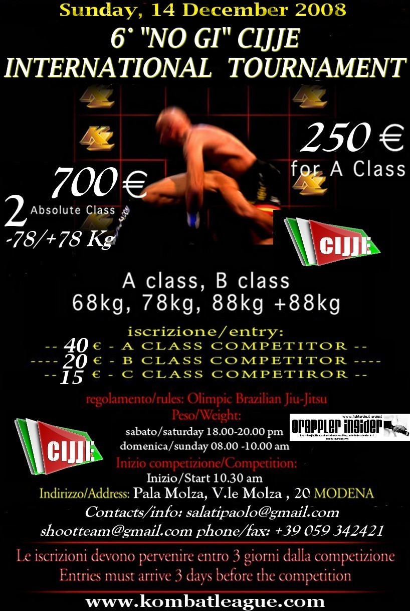 "6 ""No Gi"" CIJJE International Tournament 1"