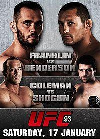 UFC 93: Esaurito in 2 settimane 1