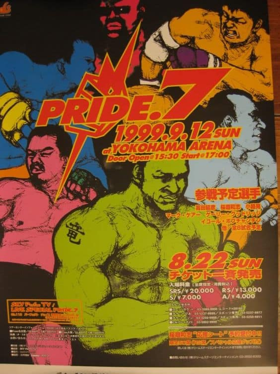 Tutti gli eventi PRIDE FC MMA 3