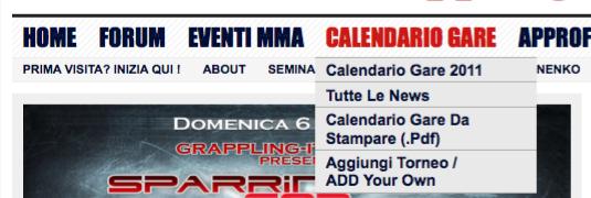 Calendario Gare Bjj Grappling da Scaricare?  3