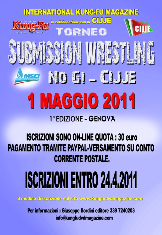 1 Torneo Submission Wrestling No Gi  - CIJJE- Genova 1