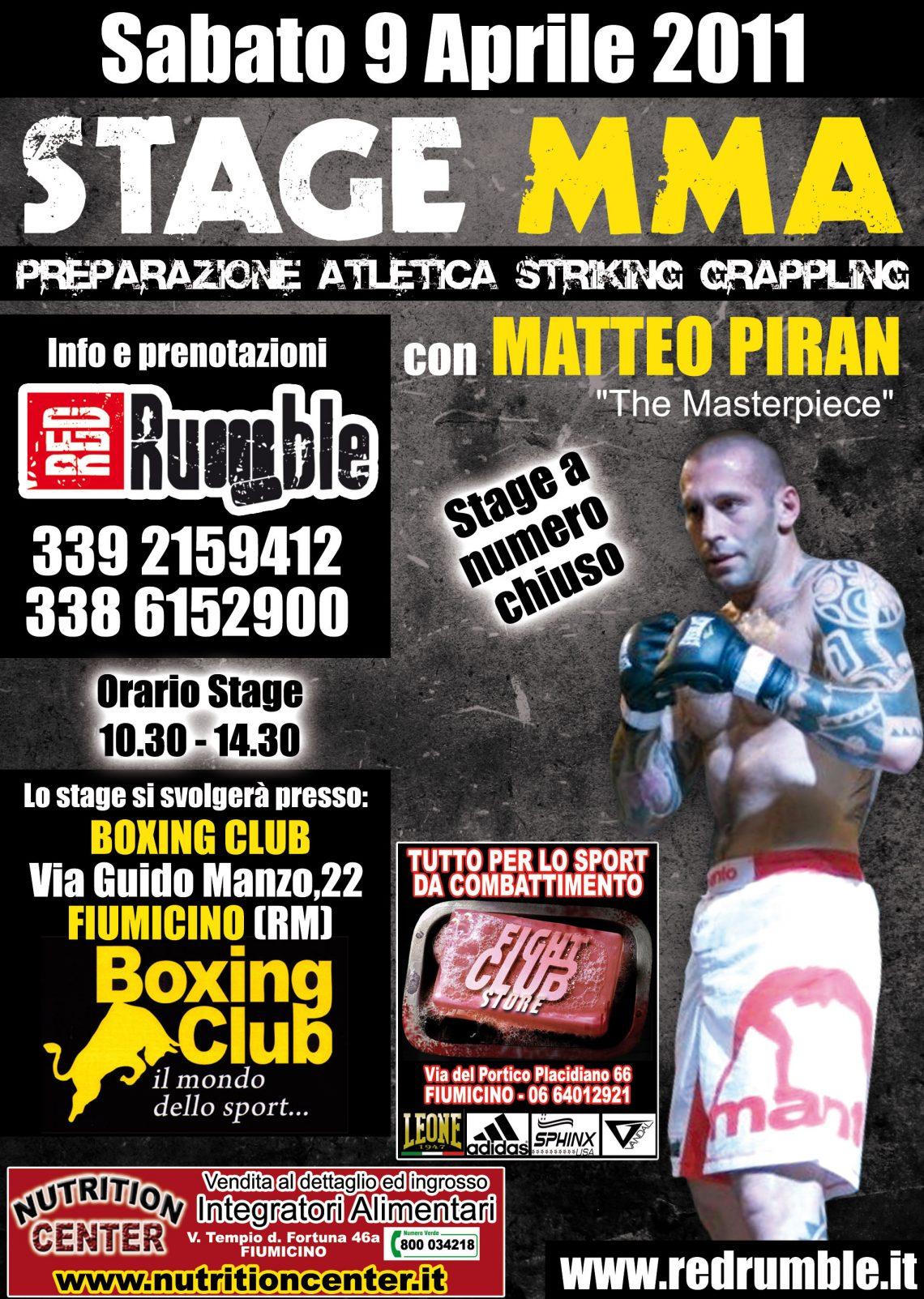 Stage di MMA con Matteo Piran a Fiumicino 1