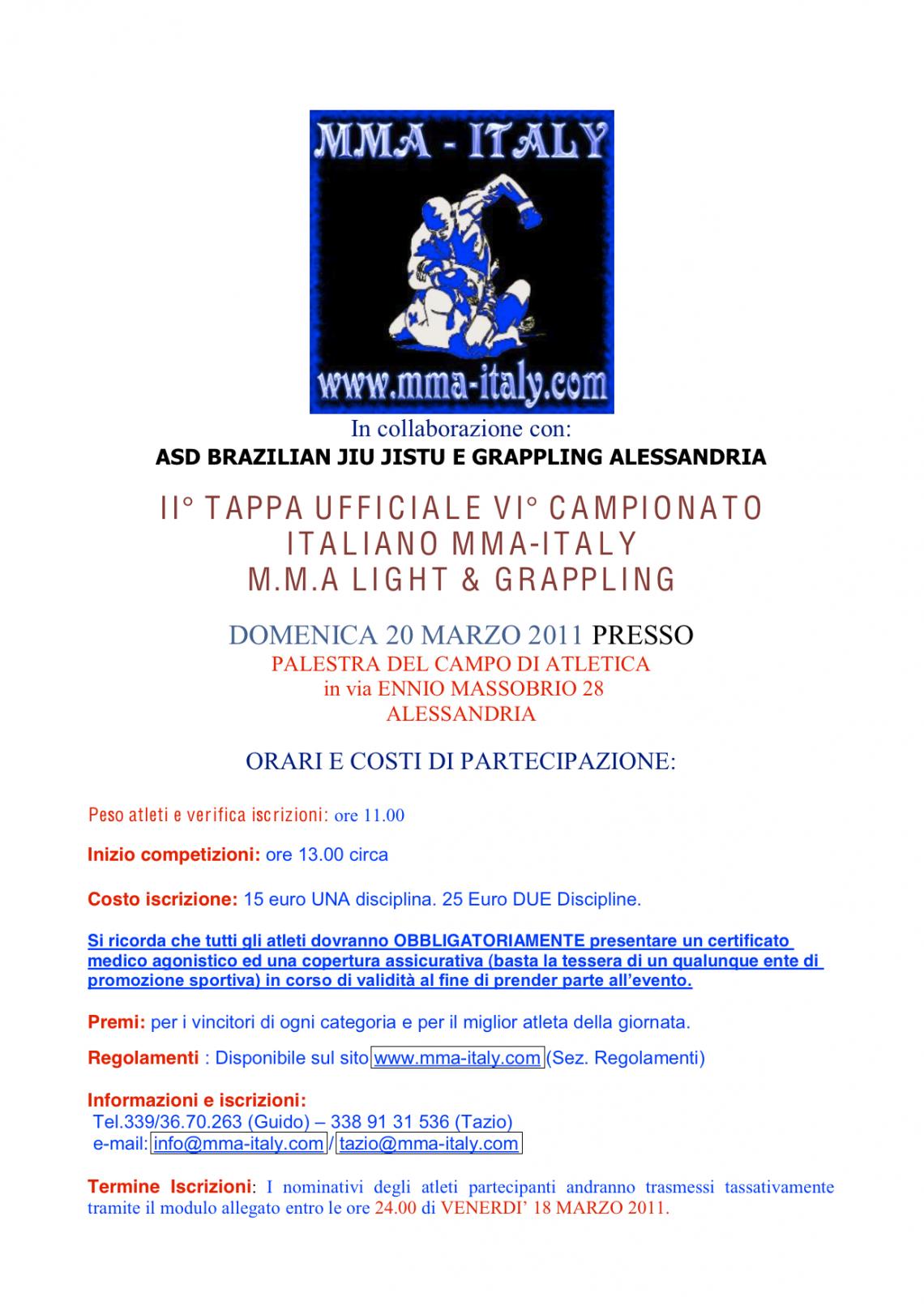 2 tappa MMA-Italy IN GABBIA !!! 1