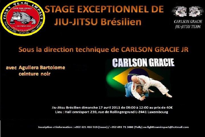 Carlson GRACIE jr. in stage in Lussemburgo 1