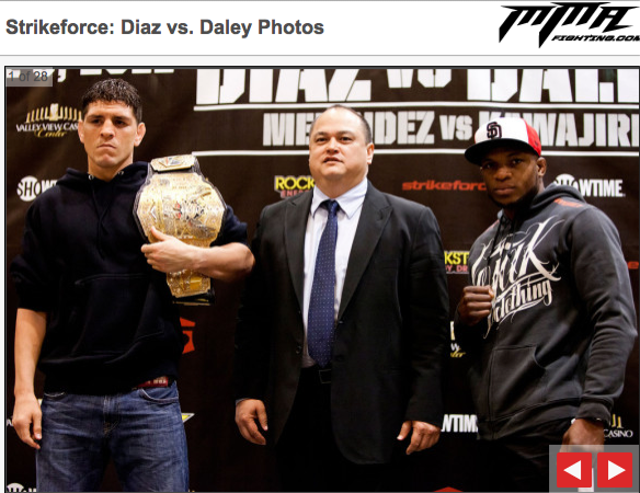 Strikeforce: Diaz vs Daley - la pesa 1