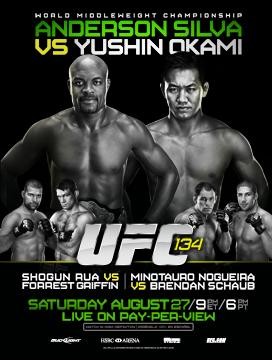 UFC 134 – UFC in Brazil: Silva vs Okami  1