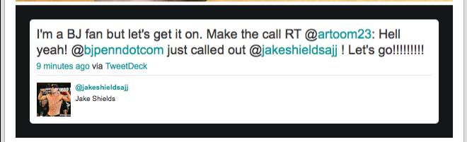 Bj Penn Vs Jake Shields? 1