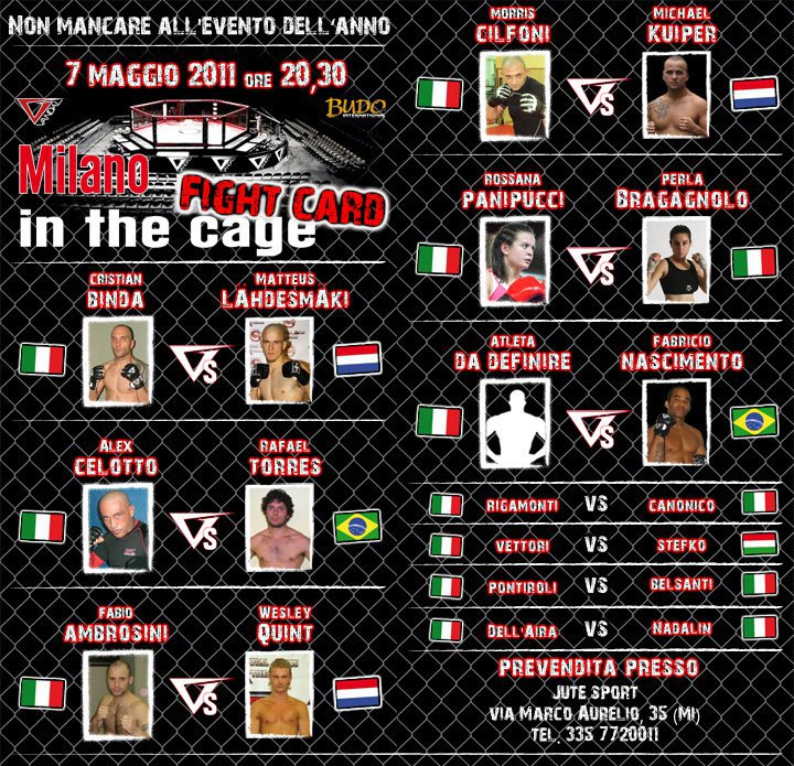 Milano in The Cage: Line Up Ufficiale 1