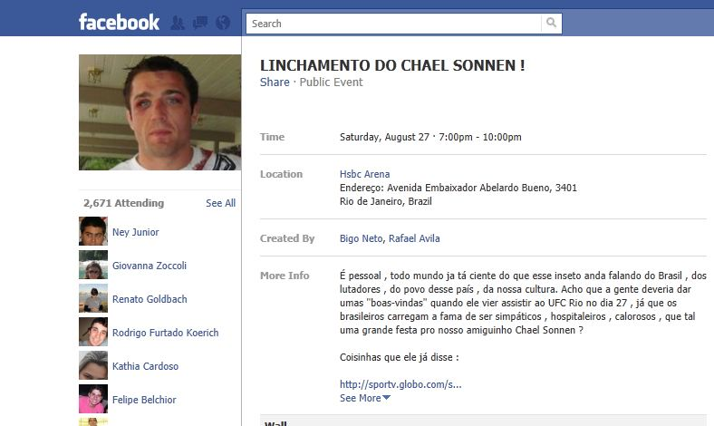 Chael Sonnen Brazilian Welcome Party 1