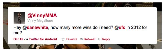 Vinny Magalhaes stufo della M-1, fa il filo all'UFC 1