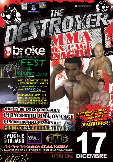 17 Dicembre: MMA on cage: DESTROYER  1