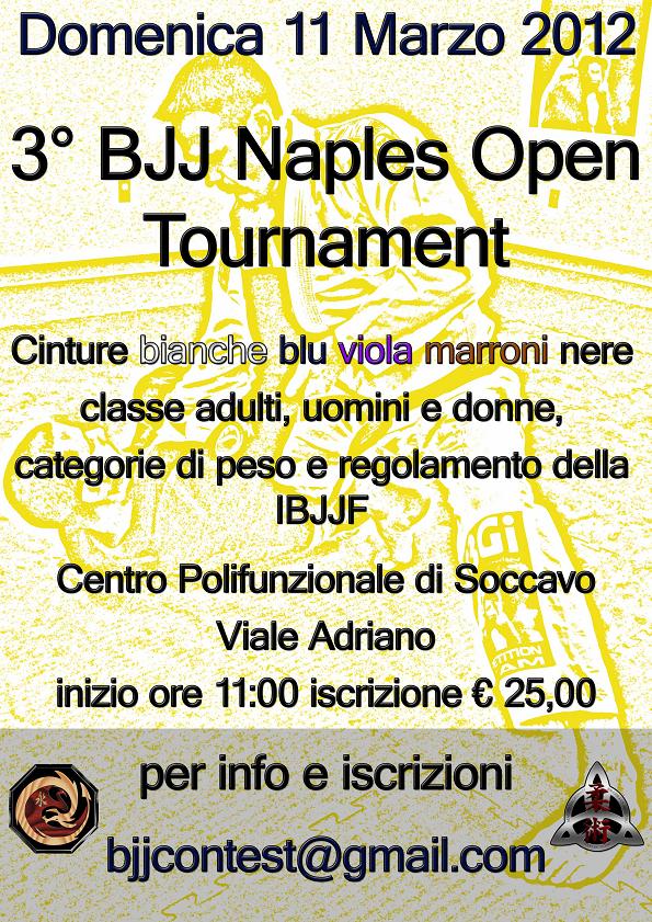 3 BJJ Naples Open Tournament 1