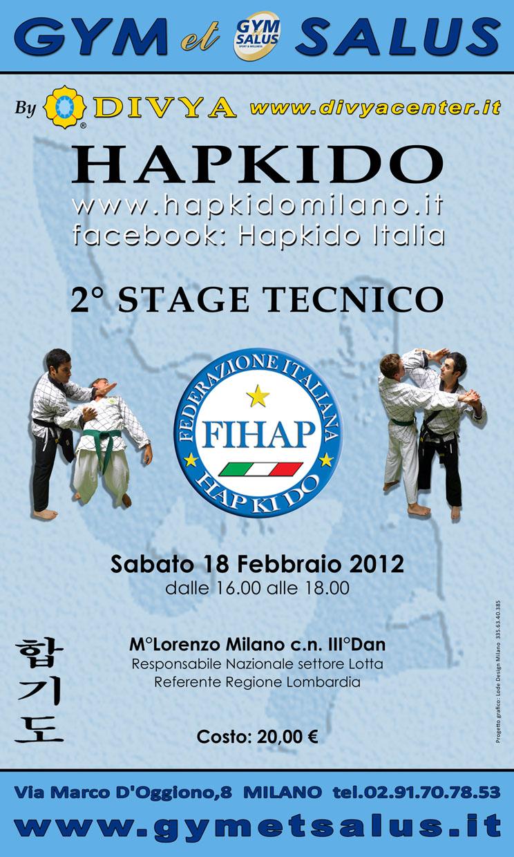Stage Tecnico Hapkido - Milano 1