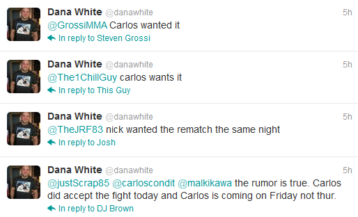 Dana conferma Condit vs Diaz II - Cesar Gracie: vedremo.... 1