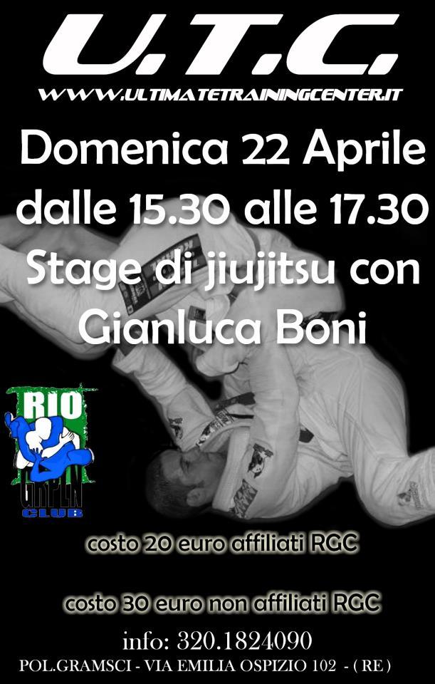 <b>22 Aprile</b> Gianluca Boni a Reggio Emilia 1