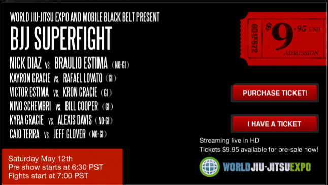 World BJJ Expo supermatch card 1