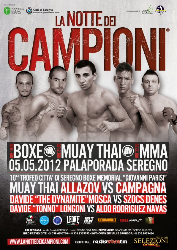 5 Maggio 2012 : La notte dei Campioni a Seregno (Milano) 1