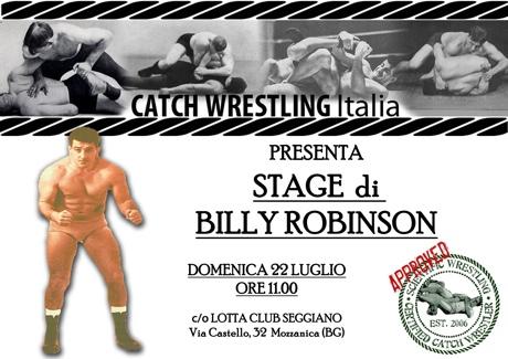 22 Luglio - Billy Robinson la Leggenda in stage a Bergamo 1